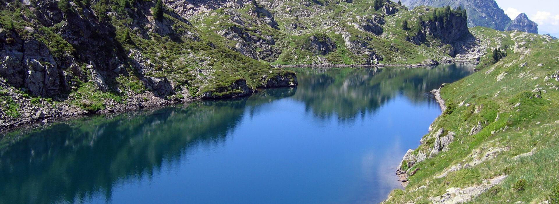 Lacs Longet, Bernard, Leama - Par la Cascade d'Oursière - 2030 M