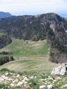 Col de la Ruchère - Depuis le Pont des Allemands - 1410 M