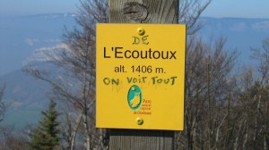 L'Ecoutoux - Depuis le Sappey (hameau de Bens) - 1406 M