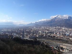 Mont Rachais - Depuis le Jardin des Dauphins à Grenoble - 1046 M