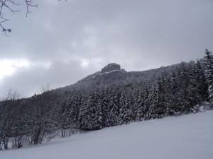Tour du Rocher du Château Vert en raquettes - Depuis Gresse en Vercors - 1455 M